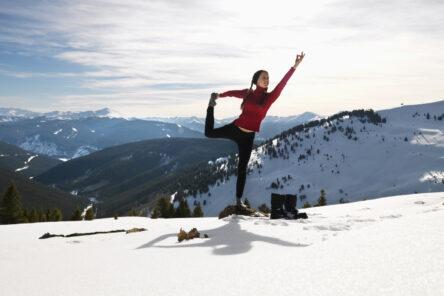 skiing and yoga