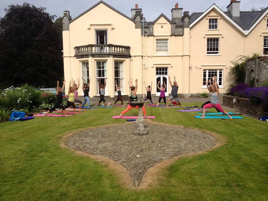 yoga outside yoga retreat brecon beacons