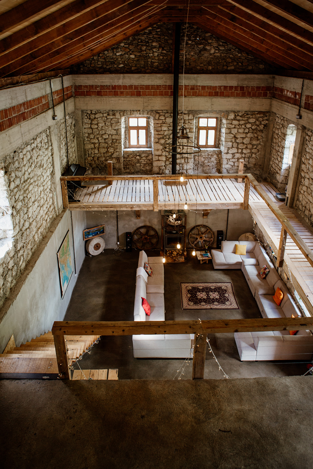 view of living space from above - hiking yoga holiday montenegro