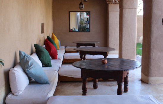seating area yoga holiday Marrakech