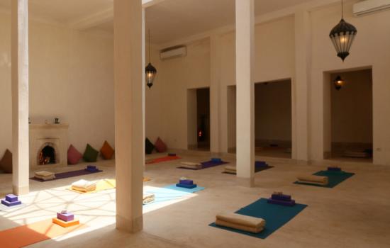indoor yoga space yoga mats on floor yoga holiday marrakech