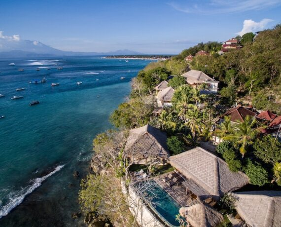 Our Villa over looking Bali