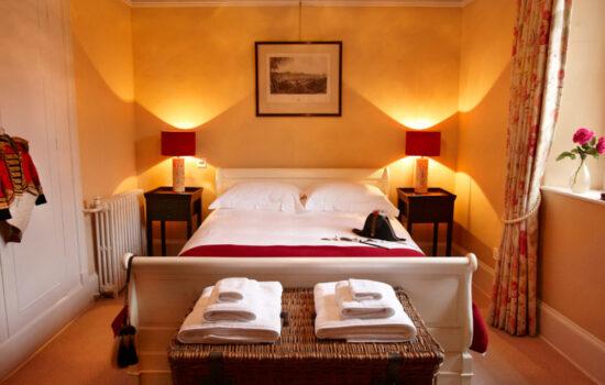 double bedroom autumn yoga retreat brecon beacons
