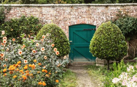 Walled garden at Tresillian