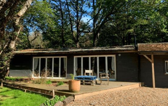 barn with patio doors